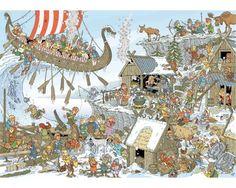 Puzzle Jumbo Vikingos de 1000 Piezas