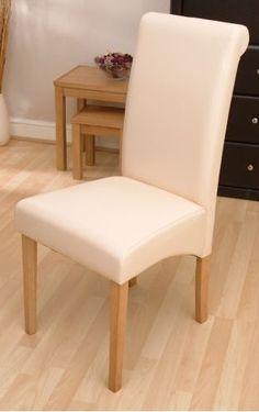 Havana Cream Faux Leather Dining Chair (Pair)