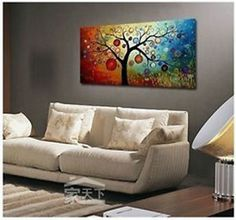 "Free shipping★48"" LARGE★TOP Home WALL Decor ART★★ Handpaint Abstract painting"