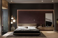 modern-contemporary-bedroom - D. Luxury Bedroom Design, Master Bedroom Interior, Bedroom Bed Design, Home Decor Bedroom, Home Interior Design, Bedroom Interiors, Suites, Luxurious Bedrooms, Behance