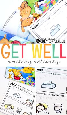 Sickness is no fun! All kids can tell you that, and we want them to get well soon! I'm excited to share with you a Get Well Writing activity that gives students a chance to work on their cause and effect skills! This activity works for all levels of learners. From our beginner writers who draw pictures to our advanced young writers who are writing sentences on their own. #Writing #TpT #creativewriting #causeandeffect #writingactivity #preschool #kindergarten #1stgrade #mrsjonescreationstation