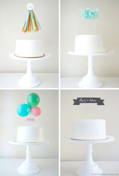 Cake toppers by PotterandButler.etsy.com