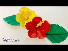 折り紙 ハイビスカス Origami Hibiscus Flower - YouTube Origami Bouquet, Origami Rose, Origami Videos, Origami And Kirigami, Paper Crafts, Diy Crafts, Flower Ball, Flower Clipart, Hibiscus Flowers