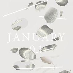 ♫ JANUARY / A Pennyweight Mixtape. Cover design by @juliakostreva.