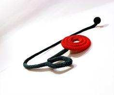 Loving Flower Necklace Wrapped Crochet Tube