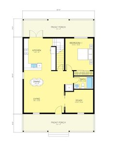 Cottage Style House Plan - 2 Beds 2 Baths 2176 Sq/Ft Plan #497-13 Main Floor Plan - Houseplans.com