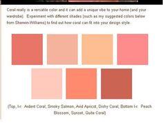coral shades, sherwin williams....hall tree or headboard