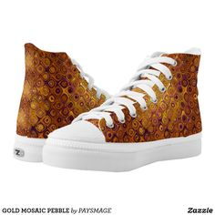 GOLD MOSAIC PEBBLE High-Top SNEAKERS