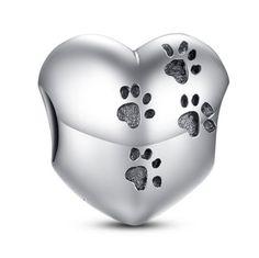 Principessa Charm - 11 Variants of Unique CZ Diamonds Sterling Silver Heart Charm