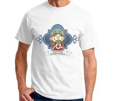 Lindas camisetas com a estampa do seu santo favorito. Sagrado Coração de Jesus.