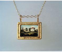 Rectangular Tuscan Necklace by Christina Goodman