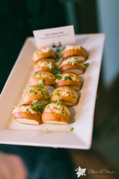 Mini Lobster Roll {Preserved Lemon, Micro Celery} | State Room: A LONGWOOD Venue | Zev Fisher Photography