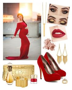 """""""Holiday Mama Maternity by Sew Trendy"""" by sewtrendy on Polyvore featuring Jouer, Michael Antonio, White House Black Market, Kobelli, Comme des Garçons, Gorjana, Christian Dior, Smith & Cult, Bobbi Brown Cosmetics and Stephanie Kantis"""