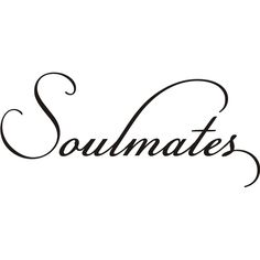 Decorate your home with this 'Soulmates' wall decal. Available in black vinyl, this decal sticks to walls for a personalized, decorative style. Easy to apply, this decal will look good in any space th Lettering Design, Hand Lettering, Stencil Lettering, Vinyl Wall Art, Wall Decals, Soulmate Signs, Vinyl Sheet Flooring, Letter Stencils, Card Sentiments
