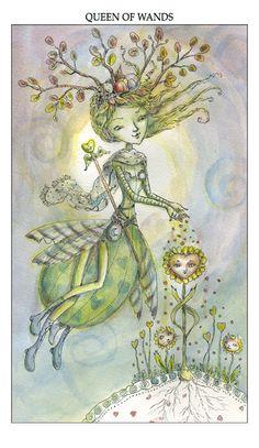 The Art of Paulina Cassidy, queen of wands