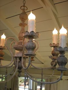 tutorial for zinc like finish for an old black or brass chandelier.  Love this treatment and it sounds pretty easy.