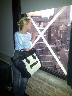 #celine #bag #stripe top