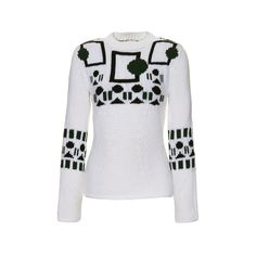 Tod's - Sweater ($535) ❤ liked on Polyvore featuring tops, sweaters, shirts, embroidered top, embroidered sweaters, vintage shirts, geometric print sweater and geometric sweater