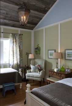 Interior designer Sarah Richardson transforms her second home, a tiny island cottage, into a relaxing space with rustic charm. Tour the house to see how the stunning views inspired every room's design. Sarah Richardson Farmhouse, Sarah Richardson Home, Cozy Bedroom, Kids Bedroom, Bedroom Decor, Bedroom Ideas, Bedroom Corner, Kids Rooms, Master Bedroom