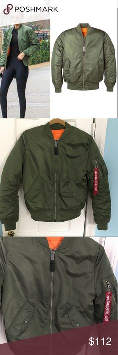 NWOT Alpha Industries Ma-1 Flight Jacket Size small in the color sage. This jacket is a great wardrobe staple that is also reversible! Never worn but no tags attached.  Thank you for looking!  I ship within 2 days shipping excluding holidays I do not trade! I only accept offers through the offer button! Thank you for shopping and feel free to ask any questions! Alpha Industries Jackets & Coats Utility Jackets