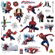 Thrill Web Slingeru0027s Fans Of All Ages With Wall Decals Straight From The  Amazing Spider Man Recreate Your Favorite Scene With These Removable And ...