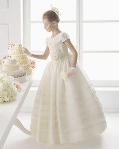 MARAVILLA vestido de comunión Rosa Clara