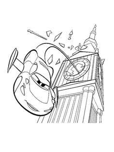 Disney Cars Coloring Page