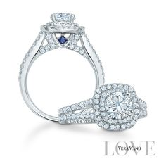 The Vera Wang LOVE Collection, exclusively at Zales. Each timeless design features blue sapphires, a unique design statement, and symbols of everlasting love.To enhance the beauty of the design, each piece is set with hand-selected, natural diamonds and sapphires.