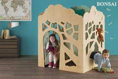 Casitas de madera modelo BONSAI. Caben en cualquier rincón / Indoor playhouse BONSAI,,, a forest in the children's room!!!!