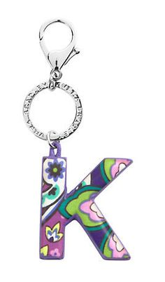 Initial Keychain | Vera Bradley I don't usually like her stuff but this is nice.