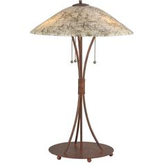 28 Inch H Metro Fusion Birds Nest Glass Table Lamp - Custom Made