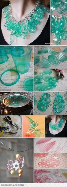 DIY Plastic Bottle Fragment Collar DIY Projects | Usefu… na Stylowi.pl