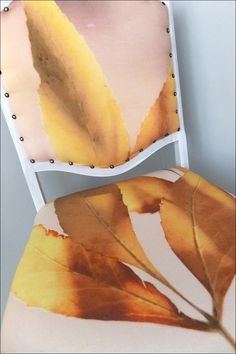 Custom printed fabric using a Dori Moreno photograph Custom Printed Fabric, Leaf Design, Design Elements, Upholstery, Fancy, Prints, Photograph, Leaves, Future