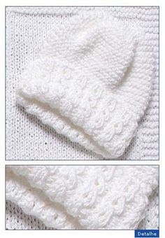 trico para bebe com grafico ile ilgili görsel sonucu Knitting Patterns Boys, Baby Hat Patterns, Baby Hats Knitting, Knitting For Kids, Knitting Stitches, Knitted Hats, Crochet Patterns, Crochet Hats, Tricot Baby