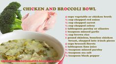 Chicken and Broccoli Bowl. Should be 2 cups brown rice for total of 4 cups cooked this makes 4 servings