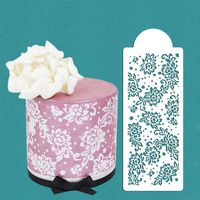 Peony Lace Cake Stencil, Cake Side Stencil, Cookie stencil, Cake Stencil for Bord Decoration,Wedding Cake Decorations Cake Decorating Airbrush, Easy Cake Decorating, Cake Decorating Supplies, Cheap Wedding Cakes, Wedding Cake Decorations, Lace Stencil, Rolling Fondant, Fancy Cakes, Crazy Cakes