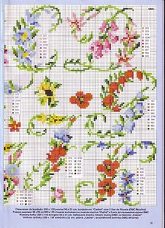 flower letters- 2 - point de croix