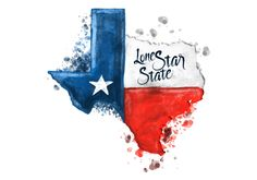 Watercolor illustration of texas map with the texas flag inside. Texas Tattoos, Texas Flag Tattoo, Side Tattoos, Foot Tattoos, Sleeve Tattoos, Only In Texas, Texas Forever, Texas Flags, Loving Texas