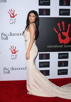 Pin for Later: Kylie Jenner Goes For Nude at Rihanna's Diamond Ball