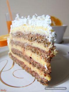 Torte – Recepti na brzinu Bakery Recipes, Fruit Recipes, Sweet Recipes, Dessert Recipes, Cooking Recipes, Dobos Torte Recipe, Torta Recipe, Torte Cake, Torte Recepti