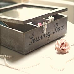 Sewing and knitting are back in style and our sewing gifts, sewing kits and knitting kits will help you create a crocheted masterpiece in no time. Shabby Chic Boxes, Vintage Sewing Box, Space Crafts, Craft Space, Knitting Kits, Sewing Rooms, Sewing Notions, Sewing Crafts, Personalized Gifts