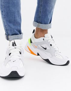 Nike Tekno Trainers In White at ASOS. Cute Shoes, Me Too Shoes, Women's Shoes, Zapatillas Nike Air, Air Max Sneakers, Sneakers Nike, Baskets, Balenciaga Shoes, Fall Shoes