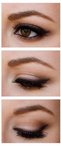 Laid back natural smokey eye
