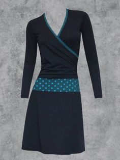 Color-Block V Neck Cotton-Blend Long Sleeve Dresses Types Of Sleeves, Dresses With Sleeves, Dresser, Casual Dresses, Formal Dresses, Colorblock Dress, Neue Trends, Dresses Online, My Style
