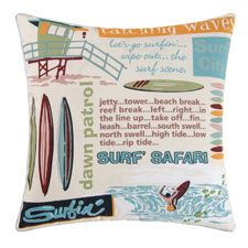 "Catching Waves Pillow 18"" x 18"""