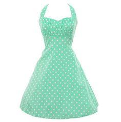 Palka Dot Mint Vintage Dress
