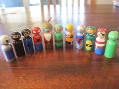 Hero Peg Dolls for Boys by SewSheMade on Etsy, $8.00