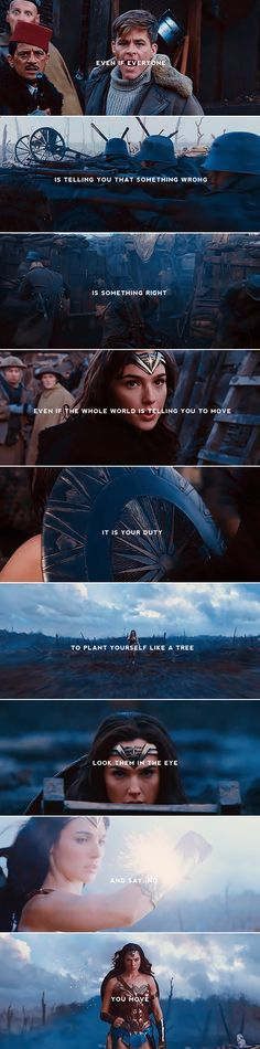 even if everyone is telling you that something wrong is something right, even if the whole world is telling you to move, it is your duty to plant yourself like a tree and say, no, you move #wonderwoman
