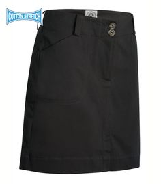 Kim Longer Length Dark Grey Skort with pockets and belt loops. Crew Uniform and Yacht Uniforms.