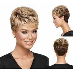 Medusa-hair-products-Afro-pixie-cut-style-Short-wavy-blonde-wig-with-bangs-Synthetic-african-american.jpg (800×800)